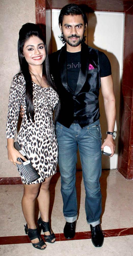 Gaurav With Sreejita Pose For Camera At The Saas Bahu Aur Saazish Success Party