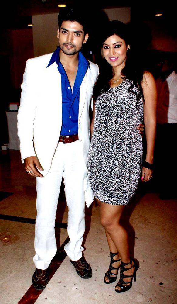 Gurmeet With Wife Debina Spotted At The Saas Bahu Aur Saazish Success Bash