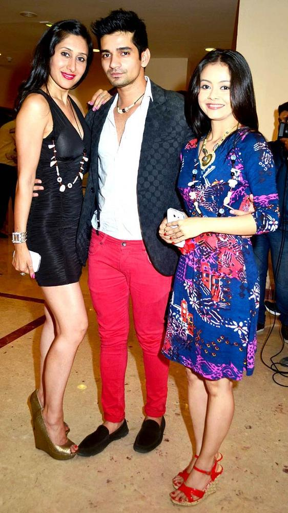 Teejay,Vishal And Devoleena At The Saas Bahu Aur Saazish Success Bash