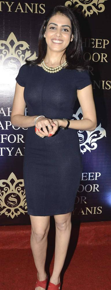 Genelia Smiling Pose At Satyani's Diamond Boutique