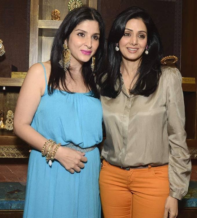 Maheep With Sridevi Pose For Camera At Satyani's Diamond Boutique
