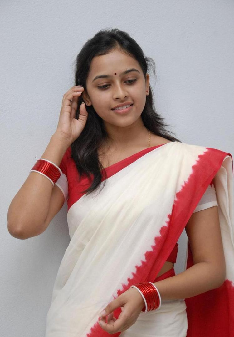 Sri Divya Beautiful Look In Saree Still