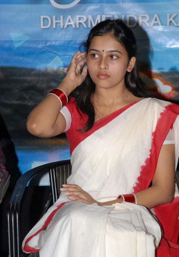 Sri Divya Latest Saree Stills