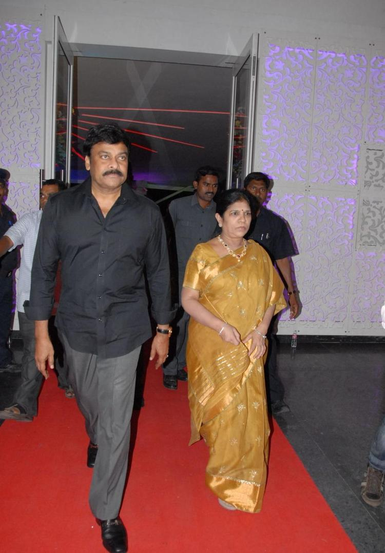 Chiranjeevi And His Wife Surekha Attend The Marriage Ceremony Of Brahmanandam Son Goutham