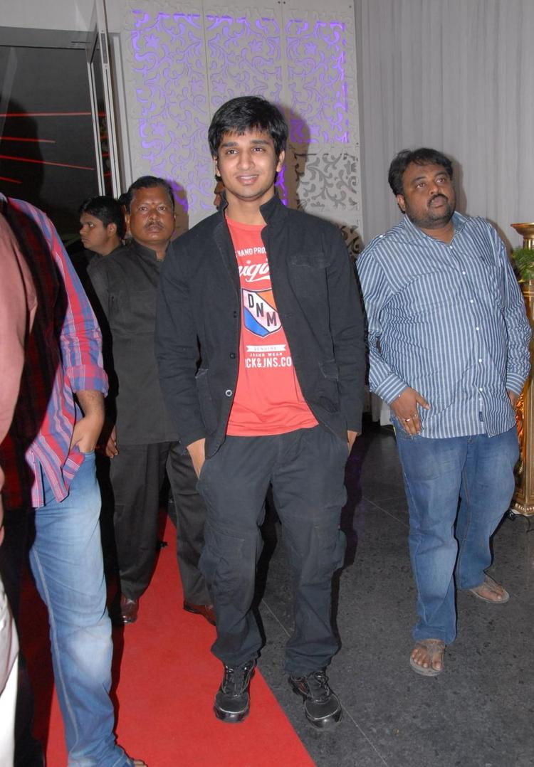 Nikhil Siddharth Pose For Camera At Brahmanandam Son Goutham Marriage