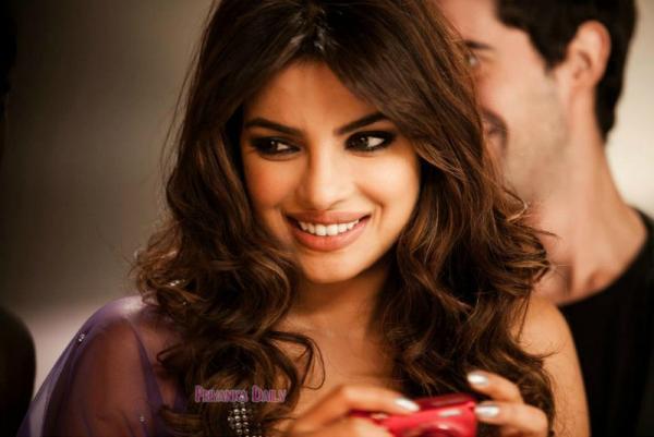Priyanka Nice Look With Cute Smiling Still At Sets Of Nikon Add