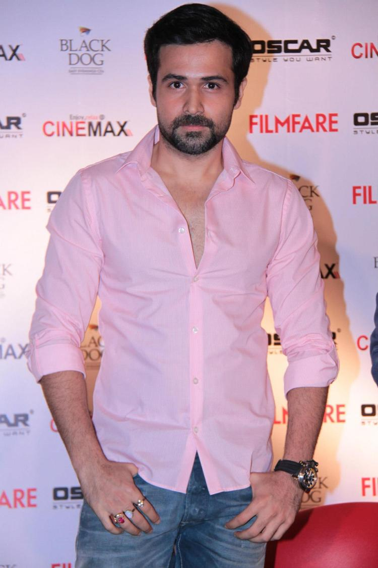 Emraan Hashmi Click For Pose At Filmfare Magazine Launch