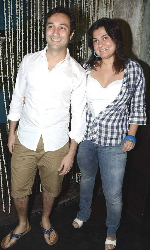 Divya And Aditya Pose For Camera At A SoBo Venue