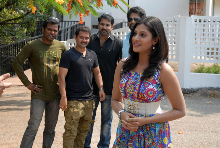 Ajay,Rishi,Kranthi And Iraa Photo Clicked At AG & AG Entertainments Untitled Film Muhurat