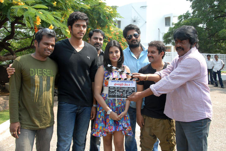 Ajay,Rishi,Kranthi And Iraa Pose For Photo At AG & AG Entertainments Untitled Film Muhurat