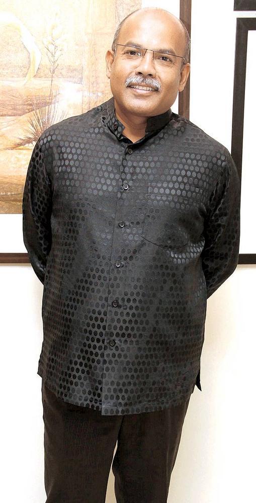 Ajay De Walks In Art Show