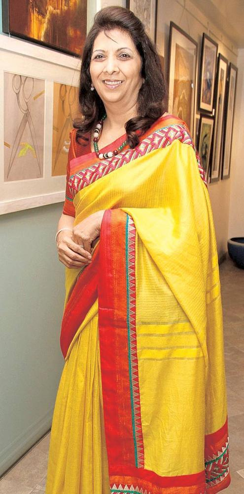 Indu Shahani Comes In Solo At An Art Show