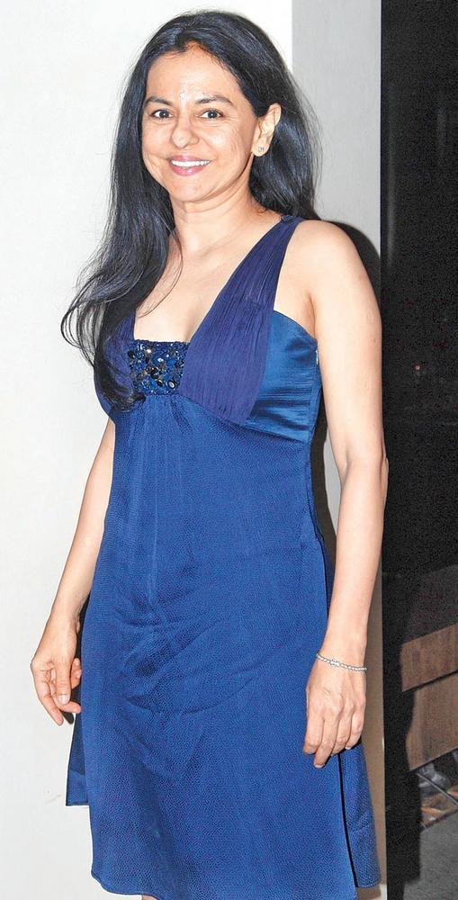 Sangeeta Chopra Looks Pretty In A Blue Dress