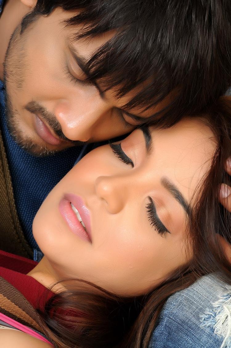 Ram Shanker And Adonika Romance Still From Movie Romeo