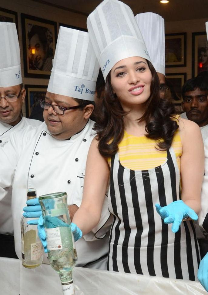Tamanna In Cake Mixing Competition
