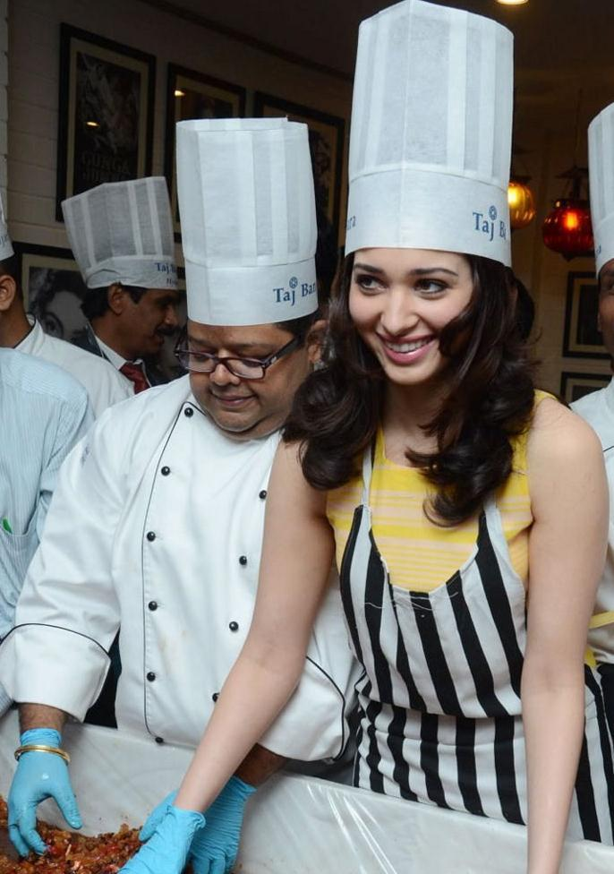 Tamanna Cute Smiling Still At Taj Banjara Hotel