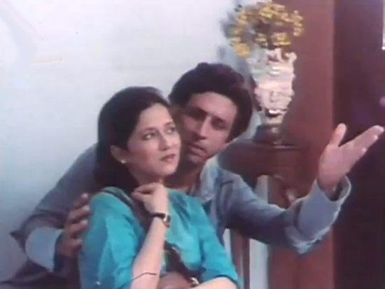 Naseeruddin And Banthia In A Romantic Scene