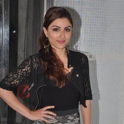 Soha Ali Khan Posed During The Launch Of Hungama Ho Gaya Album