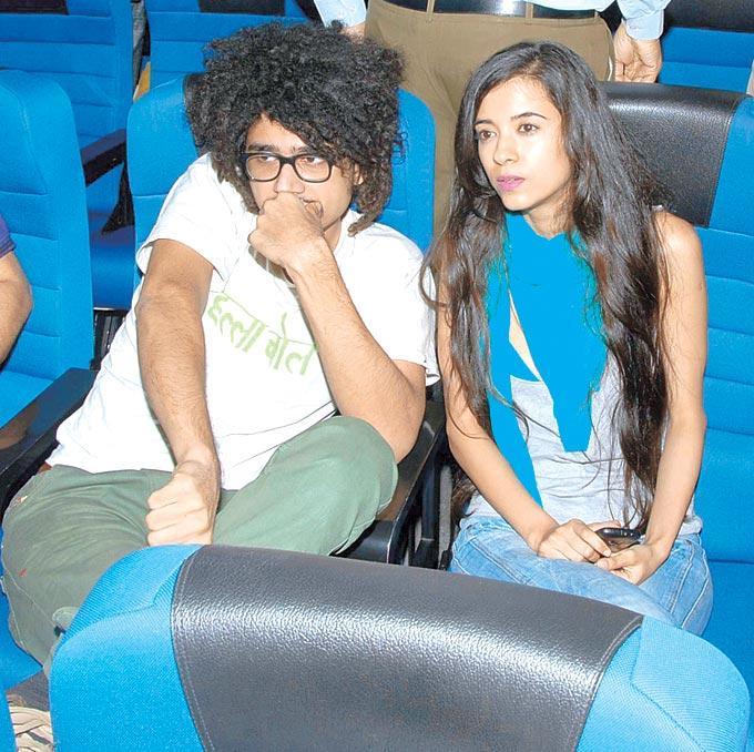 Imaad Shah With Saba Azad During The Special Screening Of Jaane Bhi Do Yaaron