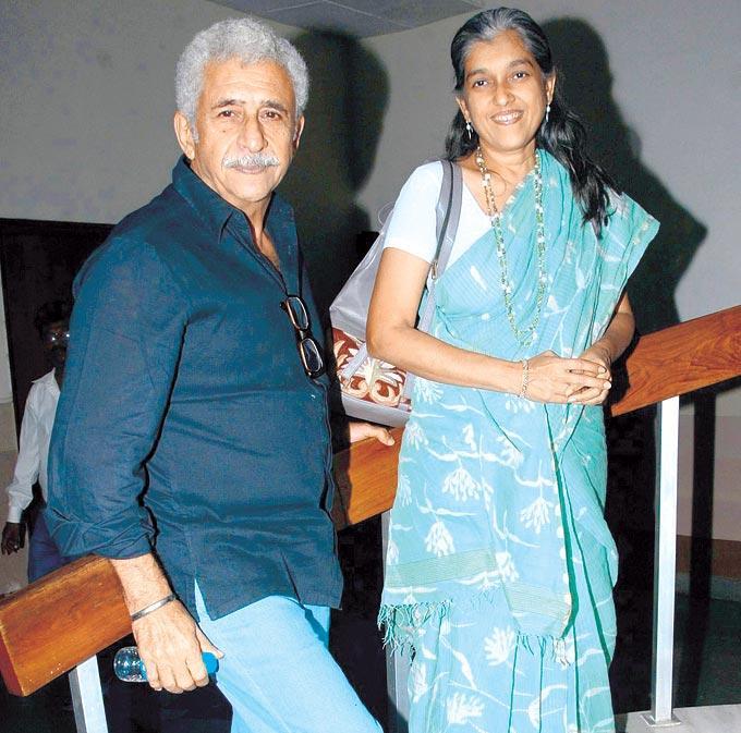 Naseeruddin With Wife Ratna Attend The Special Screening Of Jaane Bhi Do Yaaron