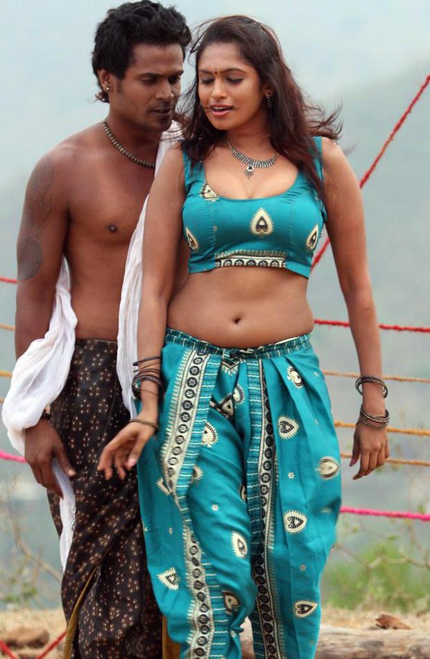 Sarathi And Govindh Sexy Navel Expose Hot Still  From Soundarya Tamil Movie