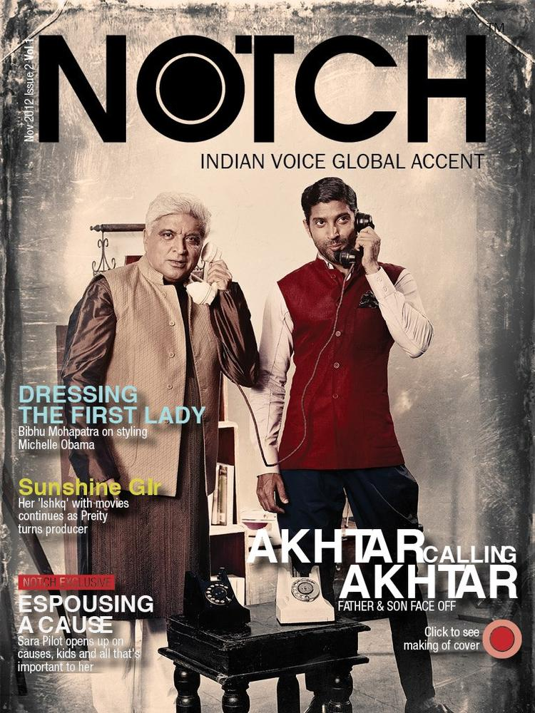 Javed And Farhan On The Cover Of Notch Magazine