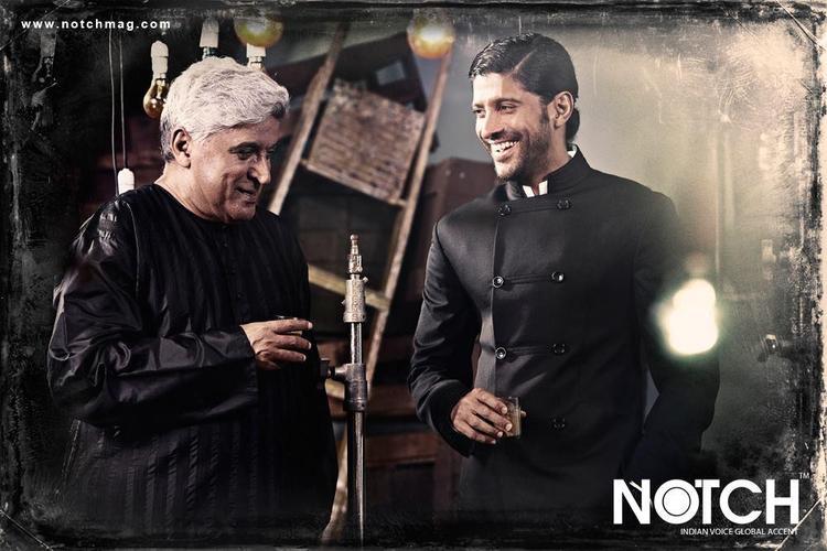 Javed And Farhan Smiling Photo Shoot For Notch November 2012