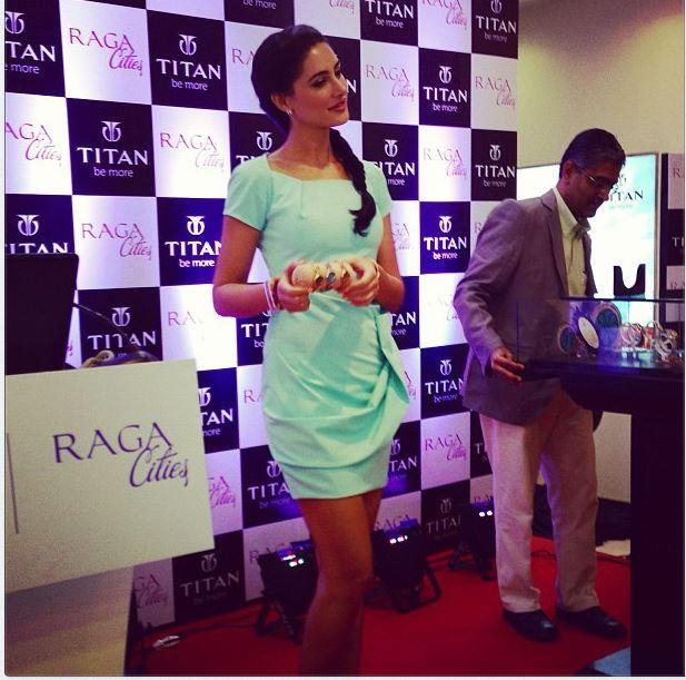 Nargis Fakhri At The Launch Of Titan Raga Cities Collection