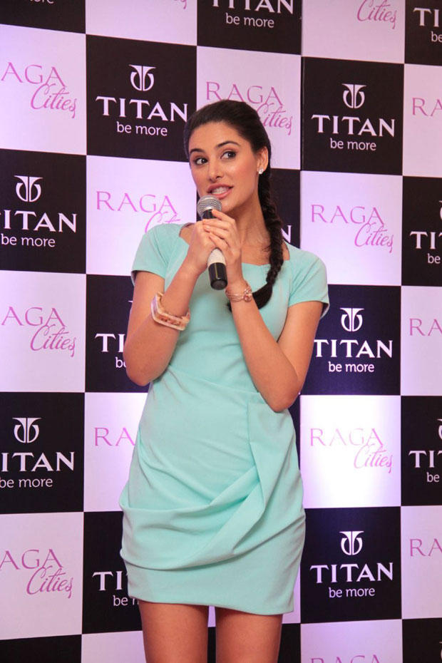 Nargis Fakhri Spotted At The Launch Of Titan Raga Cities Collection
