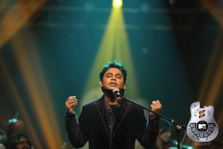 A.R Rahman Photo Still While Singing Ye Jo Des From The Album Swades