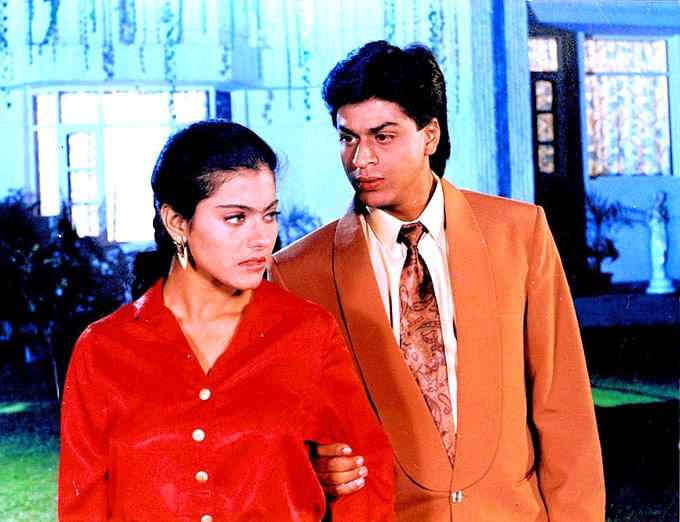 Shahrukh Khan With Kajol In Baazigar Movie
