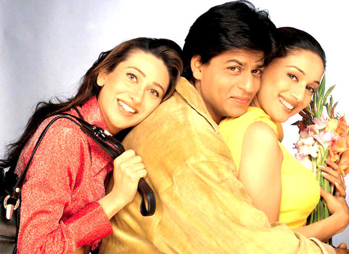 Shahrukh With Madhuri And Karisma In Dil To Pagal Hai Movie