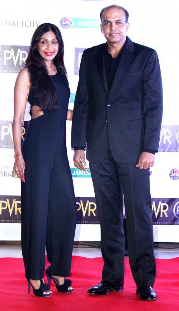 Ashutosh Gowariker With Wife Sunita At Skyfall Premiere