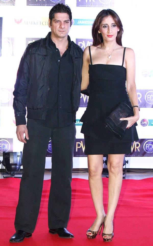 DJ Aqueel With Wife Farah Attend At The Premiere Of Skyfall