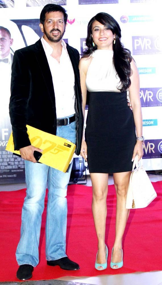 Kabir Khan With Wife Mini Mathur Clicked At The Premiere Of Skyfall