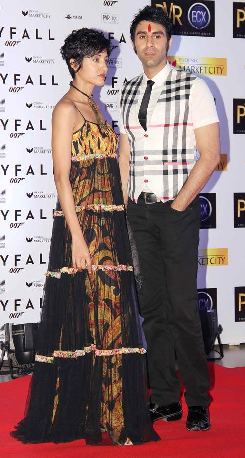 Sandip Soparrkar With Wife Jessie Randhwa At Skyfall Premiere