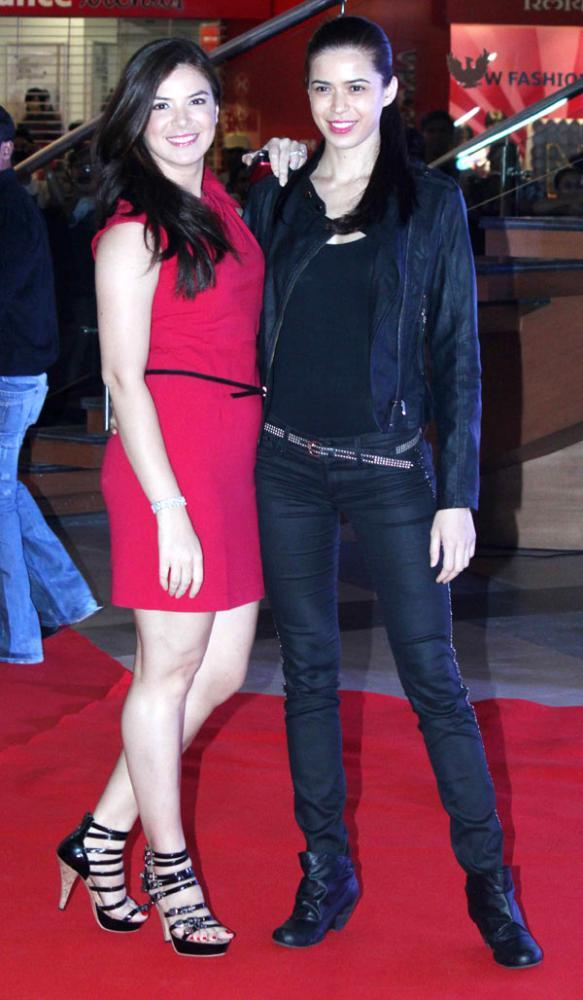 Urvashi Sharma With A Friend At Skyfall Premiere