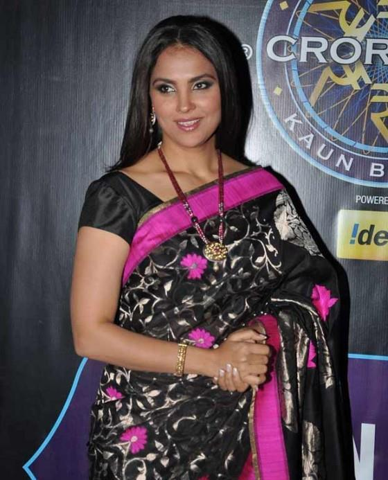 Lara Dutta Posed For Camera At Kids Special Episode Of KBC