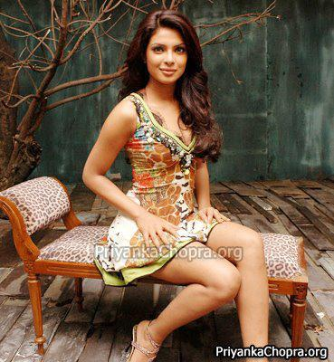 Priyanka Completed Her Look With Flowing Hair In Mini Dress