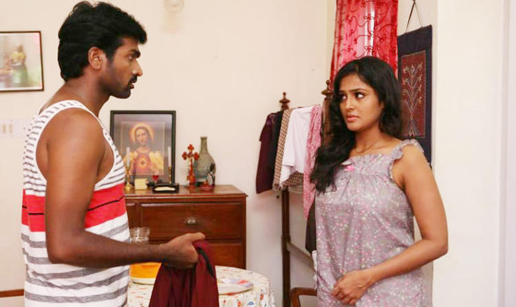 Vijay And Remya A Still From Pizza Movie
