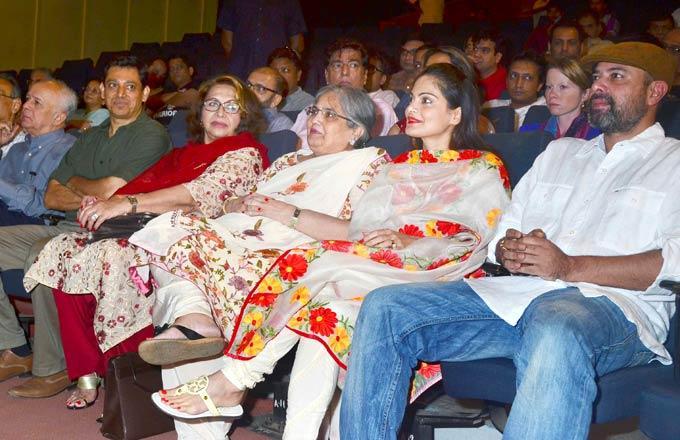 Helen,Salman's Mom Sushila,Alvira And Atul At Book Launch Of Mahatma Gandhi Aur Cinema