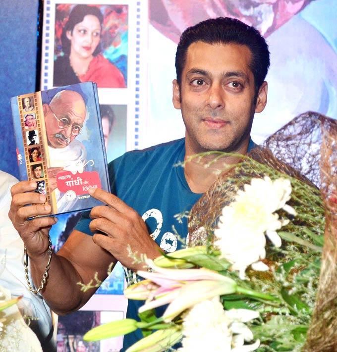 Salman Khan Launches A Book Titled Mahatma Gandhi Aur Cinema
