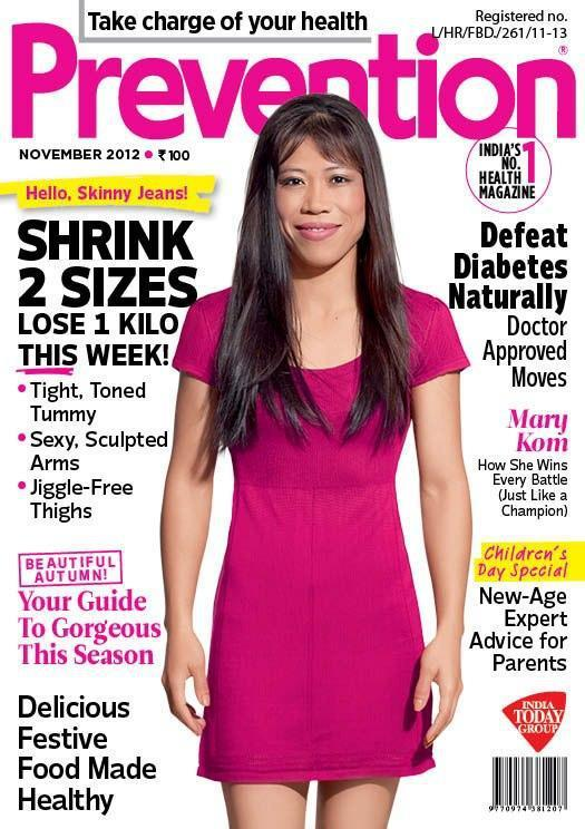 Mary Kom On The Cover Of Prevention Magazine November Issue
