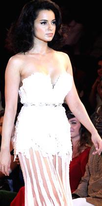 Kangana Ranaut At Blenders Pride Fashion Week 2012