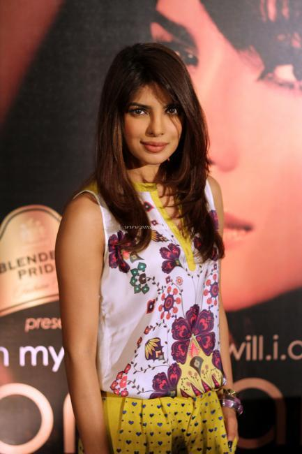 Priyanka At Blenders Pride Fashion Tour For Promoting Album In My City