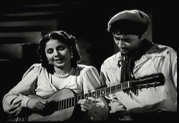 Late Geeta Bali And Dev Anand Song Still From Baazi Movie