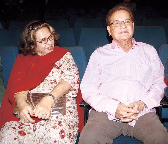 Salim With HIs Wife Helen At The Launch Of Book Mahatma Gandhi And Cinema