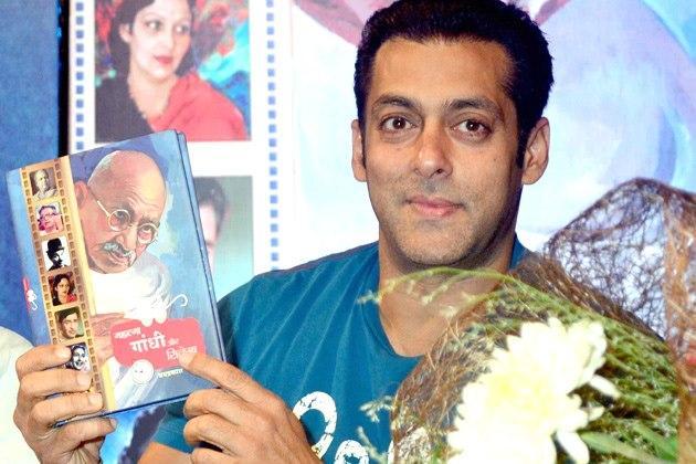 Salman At the Launch Of Book Mahatma Gandhi And Cinema
