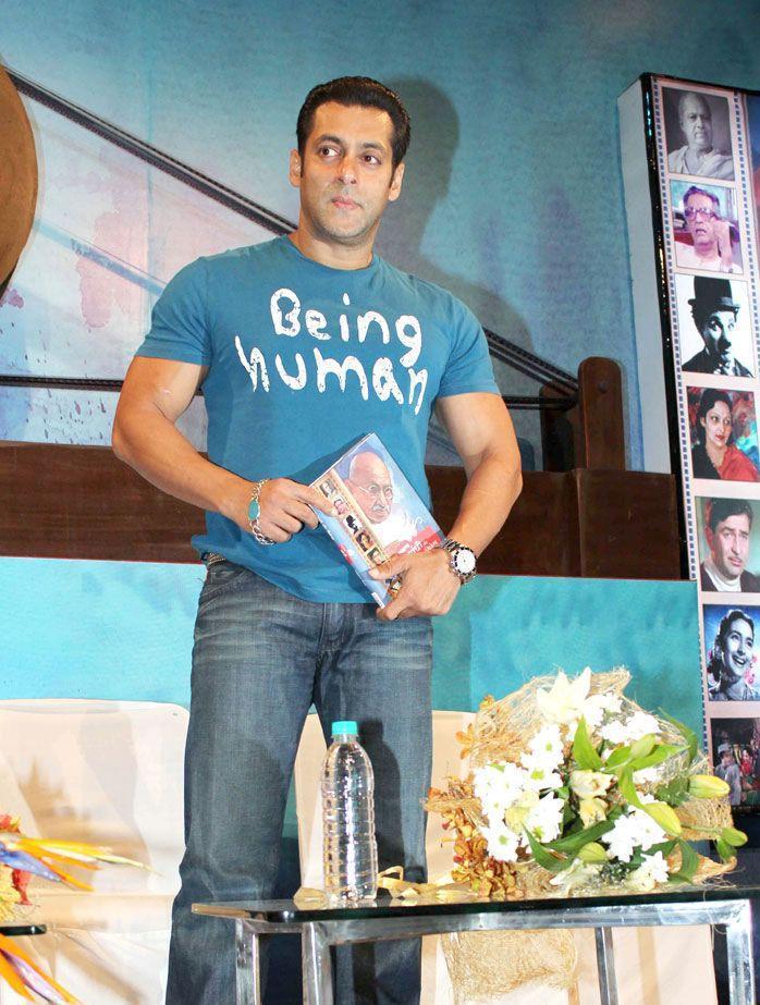 Salman Promotes The Book Titled Mahatma Gandhi And Cinema