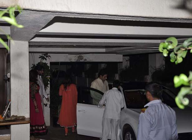 Abhishek Spotted At Sonali Bendre House To Celebrate Karwa Chauth
